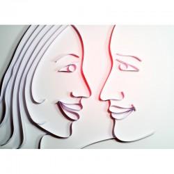 flirt, phase 1, foto auf alu dibond, 70/50cm